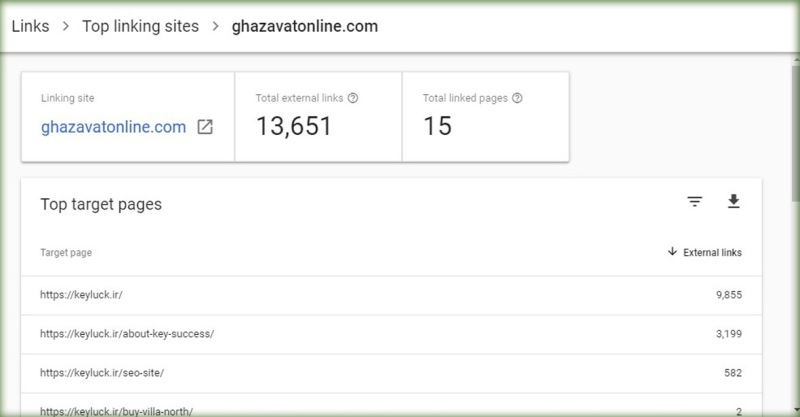 آموزش بخش Top linking sites سرچ کنسول گوگل