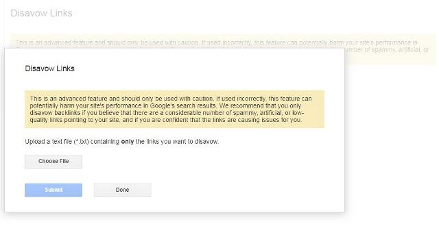 مرحله پایانی خنثی کردن لینکهای سایت در گوگل