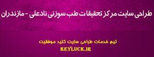 طراحی وبسایت انتشارات نادعلی - مازندران