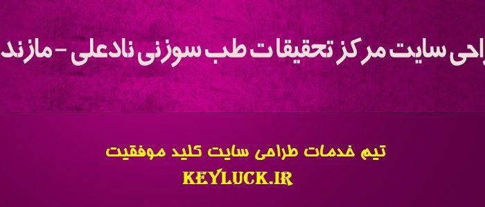 طراحی وبسایت انتشارات نادعلی – مازندران